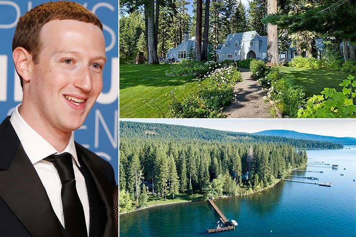 Mark Zuckerberg – $59 Million, Lake Tahoe