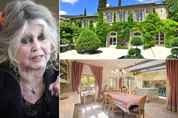Brigitte Bardot – $5.65 Million, South Of France