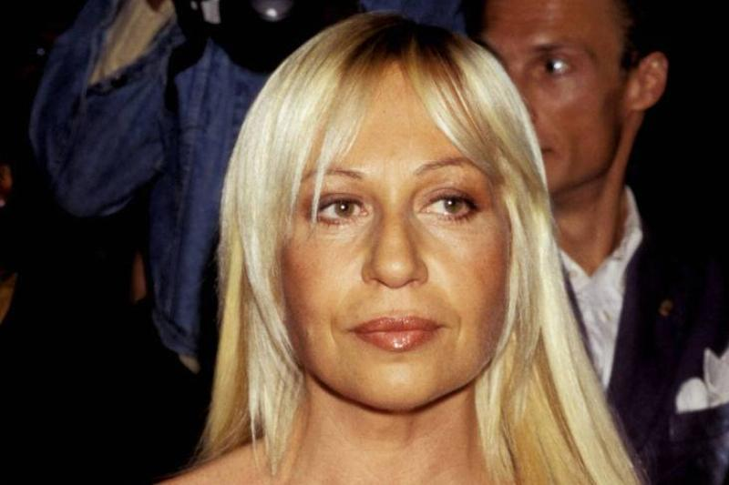 Donatella Versace Then