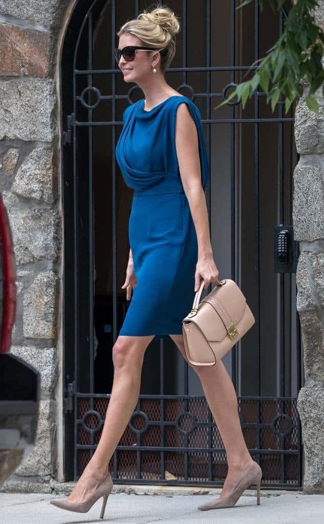 The Elegant Blue Dress