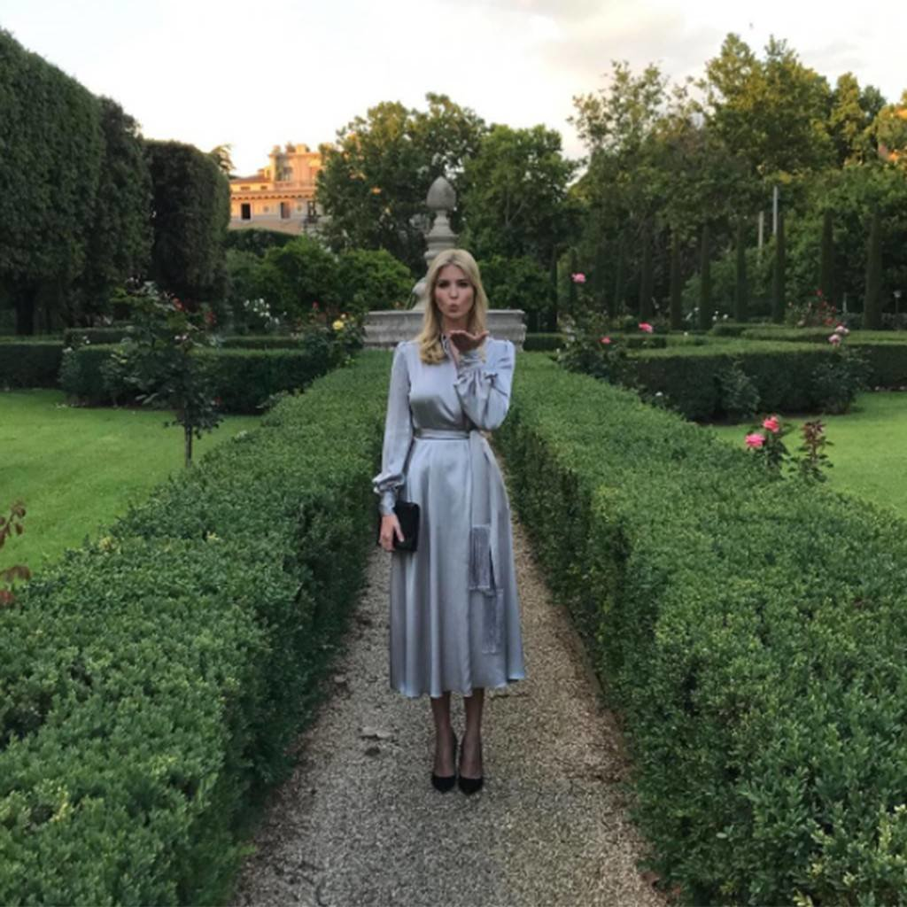 Wearing Silk Dress While In Rome