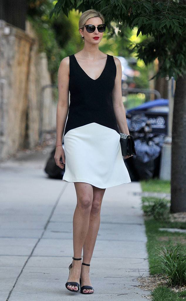 The Black And White Elegant Dress
