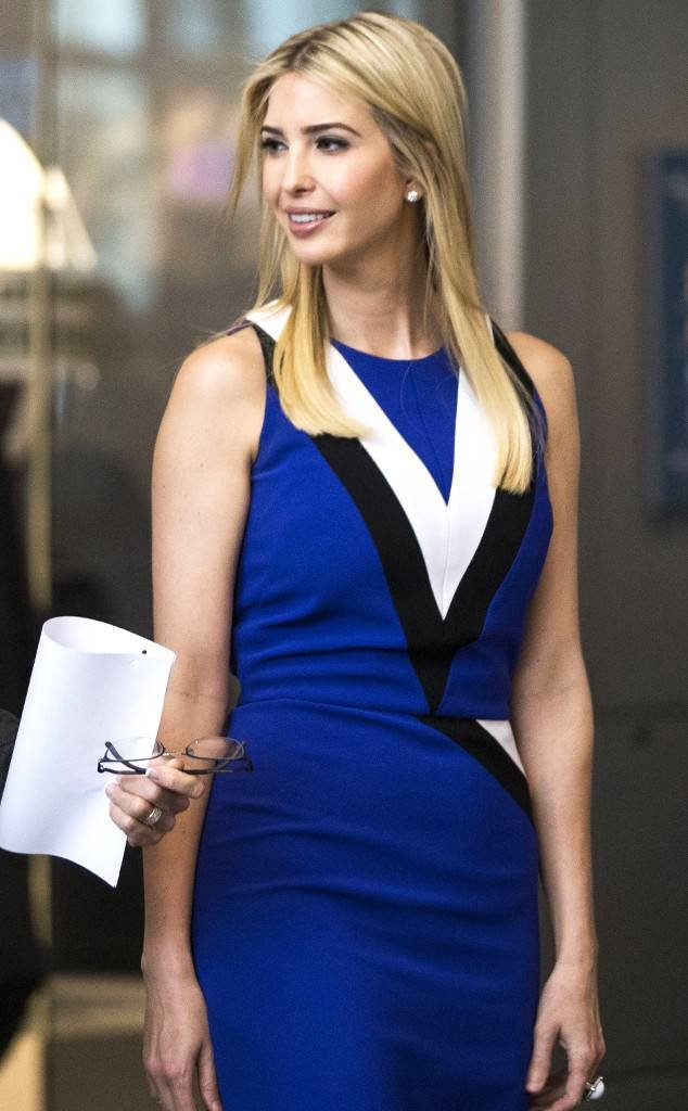 Ivanka In Cobalt Blue Dress